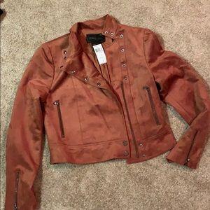 NWT Bcbg brown suede jacket